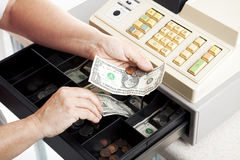 Cash Register Drawer Horizontal Royalty Free Stock Photo
