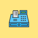 Cash register filled outline icon, vector sign Royalty Free Stock Images
