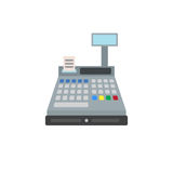 Cash register flat icon, vector sign, colorful pictogram isolated on white. Stock Photos