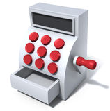 Cash register icon. 3d illustration of a symbolized cash register stock illustration