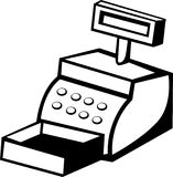 Cash register machine vector illustration Stock Photos