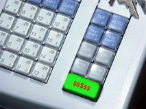 Cash Register Making Money. Photo of cash register with a special total button Royalty Free Stock Photo