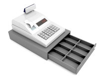 Cash register without money Stock Photos