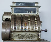An old cash register close up Royalty Free Stock Photography