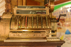 Cash register. An old cash register, dating from early 20th century royalty free stock image