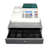 Cash Register On A White Background. Royalty Free Stock Photos