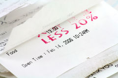 Cash register receipt Stock Photo