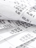 Cash register receipts Stock Image