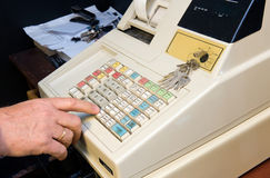 Cash register in shop Stock Image