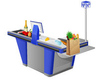 Free Cash Register Terminal And Foodstuffs Royalty Free Stock Images - 25243389