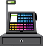 Cash Register Touch screen vector Royalty Free Stock Images