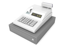 Cash register on white Royalty Free Stock Image