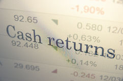 Cash return Stock Photography