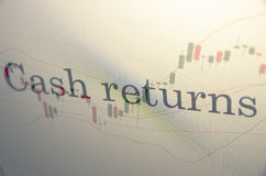 Cash returns Royalty Free Stock Photography