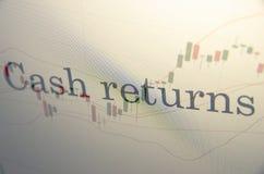 Cash returns Royalty Free Stock Photography