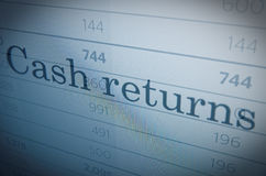 Cash returns Royalty Free Stock Image