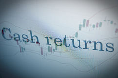 Cash returns Royalty Free Stock Images