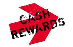 Cash Rewards rubber stamp. Grunge design with dust scratches. Effects can be easily removed for a clean, crisp look. Color is easily changed Stock Photos