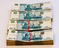 Cash, russian rouble Royalty Free Stock Photography