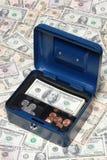 Cash safety deposit box Stock Photo