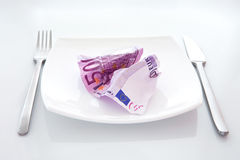 Cash Salad Stock Image