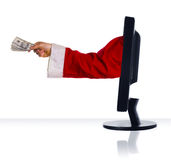 Cash from Santa Stock Photo