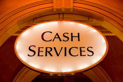 Cash services Stock Images
