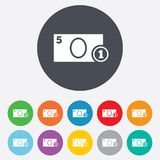 Cash sign icon. Money symbol. Coin. Royalty Free Stock Photography