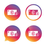 Cash sign icon. Pound Money symbol. Coin. Stock Images