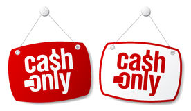 Cash only signs. Stock Photography