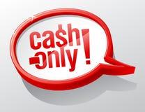 Cash only speech bubble. Cash only caution speech bubble Stock Photos