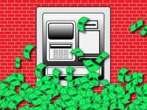 Cash Spouting ATM Machine Stock Images