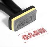 Cash stamp Stock Photo