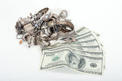 Cash for Sterling Silver Scrap Stock Photos