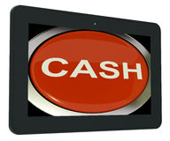 Cash Switch Shows Money Savings And Incomes Royalty Free Stock Photo
