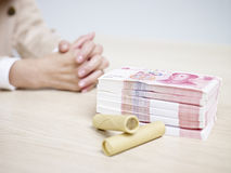 Cash on the table Royalty Free Stock Photos