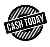 Cash Today rubber stamp Royalty Free Stock Photo