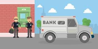 Cash transit security. Stock Photo