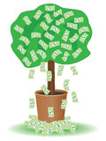 Cash tree Royalty Free Stock Images