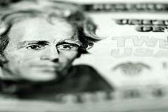 Cash Twenty Dollar Bill Royalty Free Stock Photo
