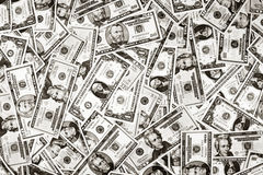 Cash US Banknotes Money Dollar Blanket Background Stock Image