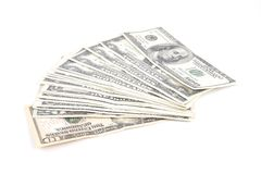 Cash of US dollars and euros Stock Photo