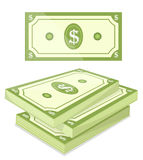 Cash. Vector illustration of a bundle of cash Royalty Free Stock Photo