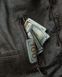 Cash Vest Pocket Royalty Free Stock Photos