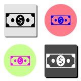 cash Vlak vectorpictogram royalty-vrije illustratie