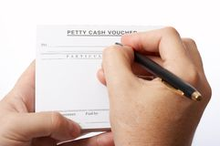 Cash voucher Royalty Free Stock Photo