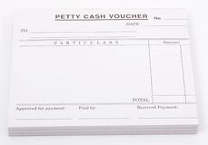 Cash voucher Stock Photo