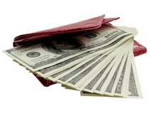 Cash in wallet Royalty Free Stock Image