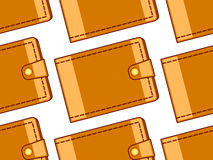 Cash wallet pattern. Seamless pattern of the cash wallets Stock Photo