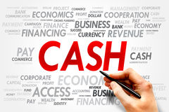 Cash word cloud Stock Photos